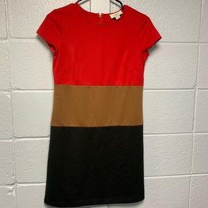LOFT petites color block shift dress